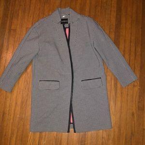 Express houndstooth long jacket 🍂